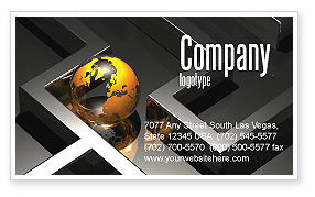 Consulting: Earth in Labyrinth Business Card Template #06357