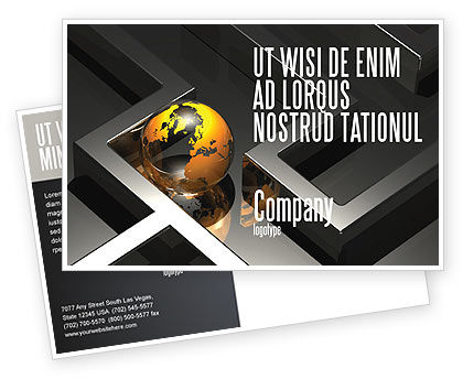 Consulting: Earth in Labyrinth Postcard Template #06357