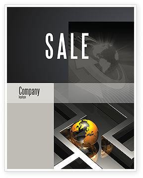 Consulting: Earth in Labyrinth Sale Poster Template #06357