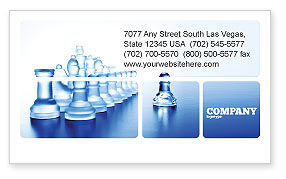 Business Concepts: Glass Chess Business Card Template #06365