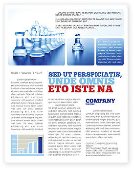Business Concepts: Glass Chess Newsletter Template #06365
