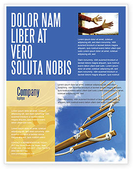 Rope Ladder Flyer Template, 06366, Consulting — PoweredTemplate.com