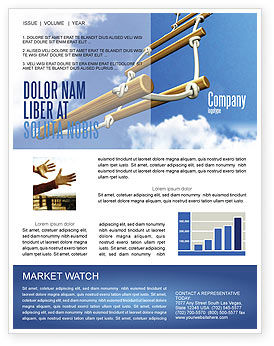 Consulting: Rope Ladder Newsletter Template #06366