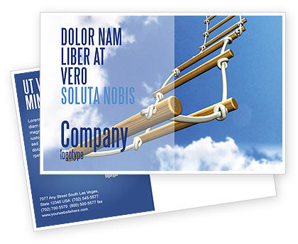 Consulting: Rope Ladder Postcard Template #06366