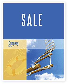 Rope Ladder Sale Poster Template, 06366, Consulting — PoweredTemplate.com