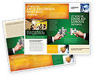 Financial/Accounting: Money Puzzles Brochure Template #06367