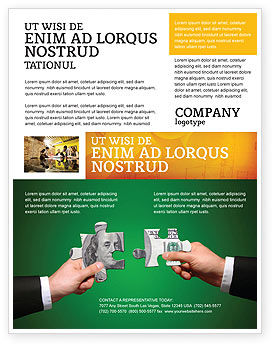 Financial/Accounting: Geldpuzzles Flyer Vorlage #06367