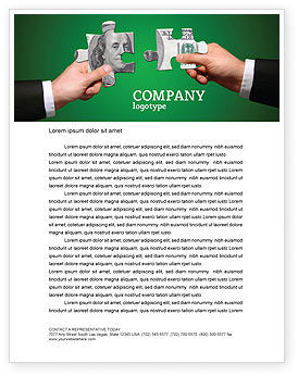 Financial/Accounting: Money Puzzles Letterhead Template #06367