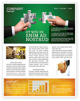 Money Puzzles Newsletter Template, 06367, Financial/Accounting — PoweredTemplate.com