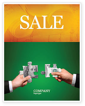 Money Puzzles Sale Poster Template, 06367, Financial/Accounting — PoweredTemplate.com
