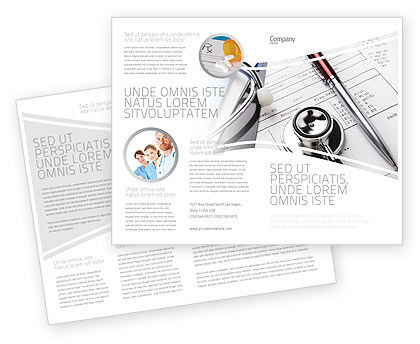 Medical: Medical Record For Analysis Brochure Template #06369