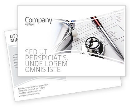 Medical: Medical Record For Analysis Postcard Template #06369