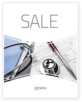 Medical Record For Analysis Sale Poster Template, 06369, Medical — PoweredTemplate.com