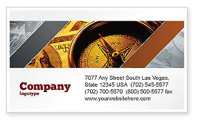 Money Compass Business Card Template, 06377, Consulting — PoweredTemplate.com