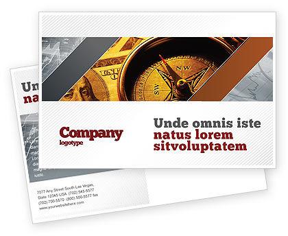 Consulting: Modello Cartolina - Bussola denaro #06377