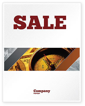 Money Compass Sale Poster Template, 06377, Consulting — PoweredTemplate.com