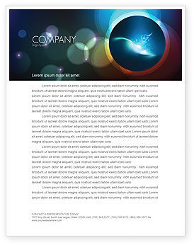 Abstract/Textures: Blue Splashes Letterhead Template #06378