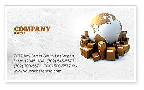 Careers/Industry: Packages Business Card Template #06394