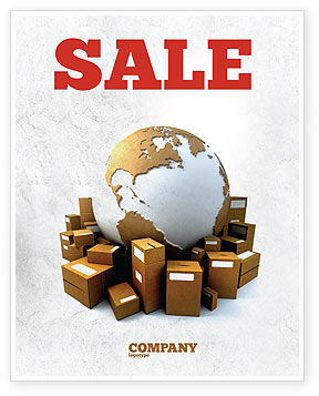Packages Sale Poster Template, 06394, Careers/Industry — PoweredTemplate.com