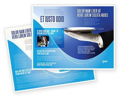 Waiter Brochure Template, 06397, Business Concepts — PoweredTemplate.com