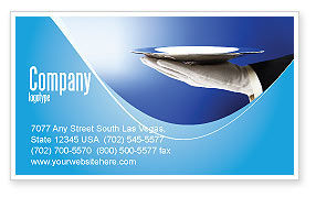 Waiter Business Card Template, 06397, Business Concepts — PoweredTemplate.com