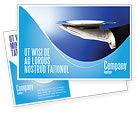 Business Concepts: Waiter Postcard Template #06397