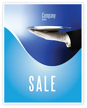 Waiter Sale Poster Template