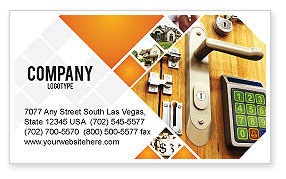 Careers/Industry: Absolutely Secure Business Card Template #06413