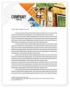 Absolutely Secure Letterhead Template, 06413, Careers/Industry — PoweredTemplate.com