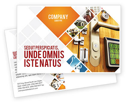Careers/Industry: Absolutely Secure Postcard Template #06413