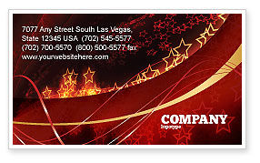 Abstract Red Stars Business Card Template, 06428, Abstract/Textures — PoweredTemplate.com