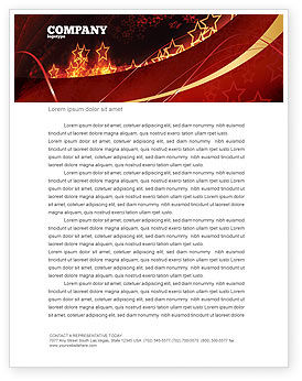 Abstract/Textures: Abstract Red Stars Letterhead Template #06428
