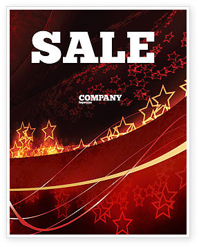 Abstract/Textures: Abstract Red Stars Sale Poster Template #06428