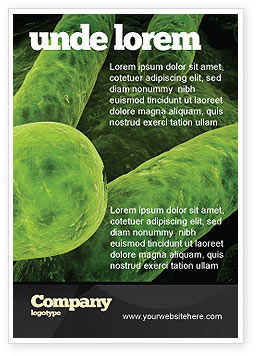 Medical: Bacilli In Green Color Ad Template #06436