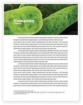 Medical: Bacilli In Green Color Letterhead Template #06436