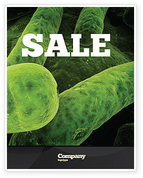 Medical: Bacilli In Green Color Sale Poster Template #06436