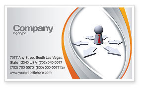 Top Management Business Card Template, 06438, Consulting — PoweredTemplate.com