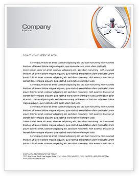 Top Management Letterhead Template, 06438, Consulting — PoweredTemplate.com