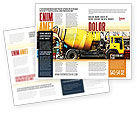 Construction: Concrete Agitator Brochure Template #06449