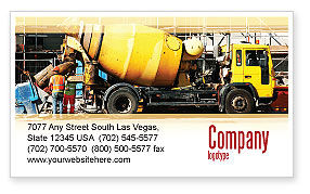 Construction: Concrete Agitator Visitekaartje Template #06449