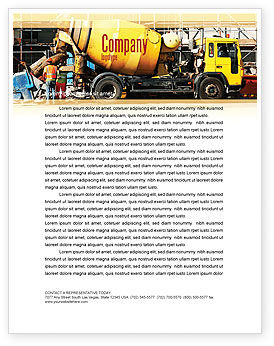 Construction: Concrete Agitator Letterhead Template #06449