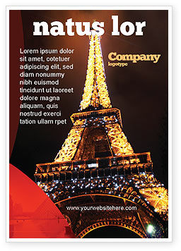 Holiday Eiffel Tower Ad Template, 06450, Flags/International — PoweredTemplate.com