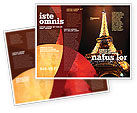 Flags/International: Holiday Eiffel Tower Brochure Template #06450