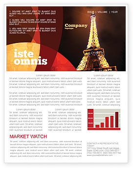 Flags/International: Holiday Eiffel Tower Newsletter Template #06450