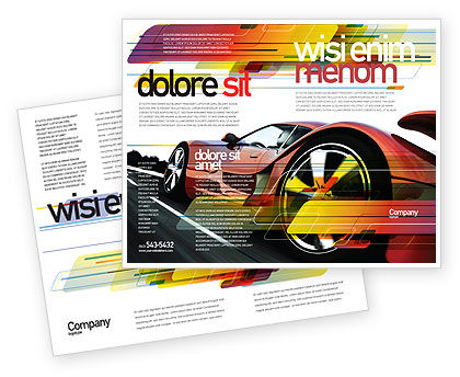 Red Supercar Brochure Template, 06454, Cars/Transportation — PoweredTemplate.com