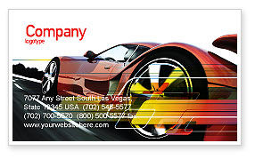 Cars/Transportation: Red Supercar Business Card Template #06454