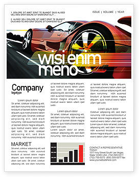 Cars/Transportation: Red Supercar Newsletter Template #06454