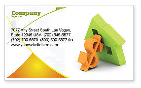 Financial/Accounting: Mortgage Money Business Card Template #06459