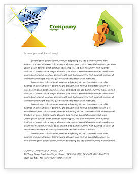 Mortgage Money Letterhead Template, 06459, Financial/Accounting — PoweredTemplate.com
