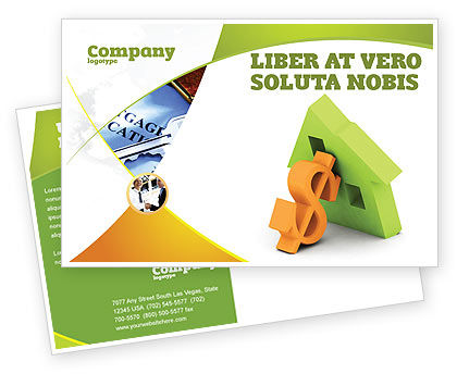 Mortgage Money Postcard Template